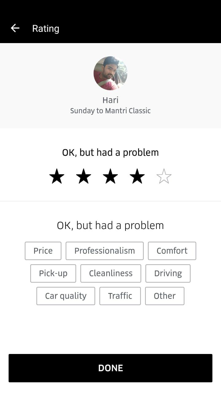 Uber Feedback