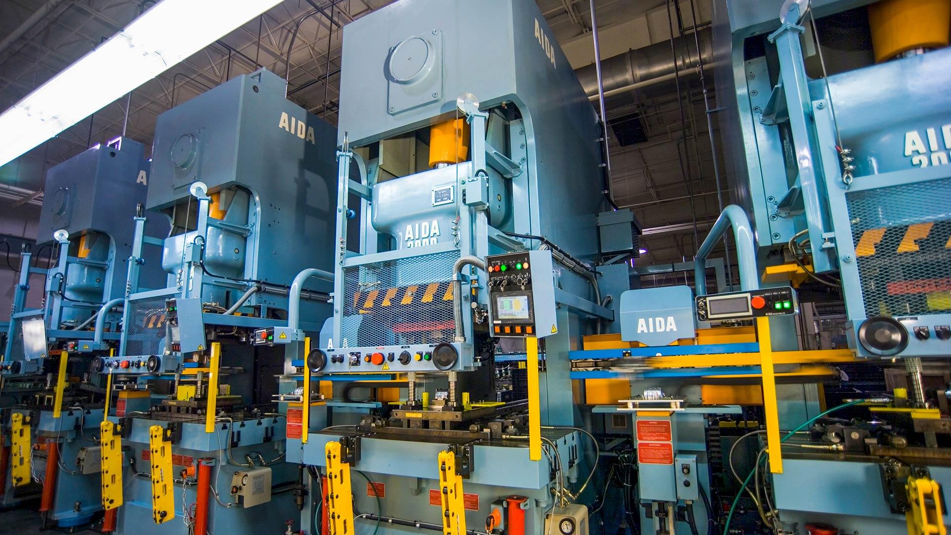 DSF-C1-1500 x 4, Gap Frame Servo Press Tandem Line