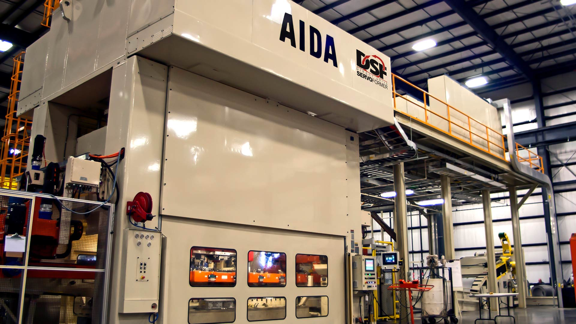 AIDA DSF-M2-15000, 1,500 Ton Servo Press with Transfer System