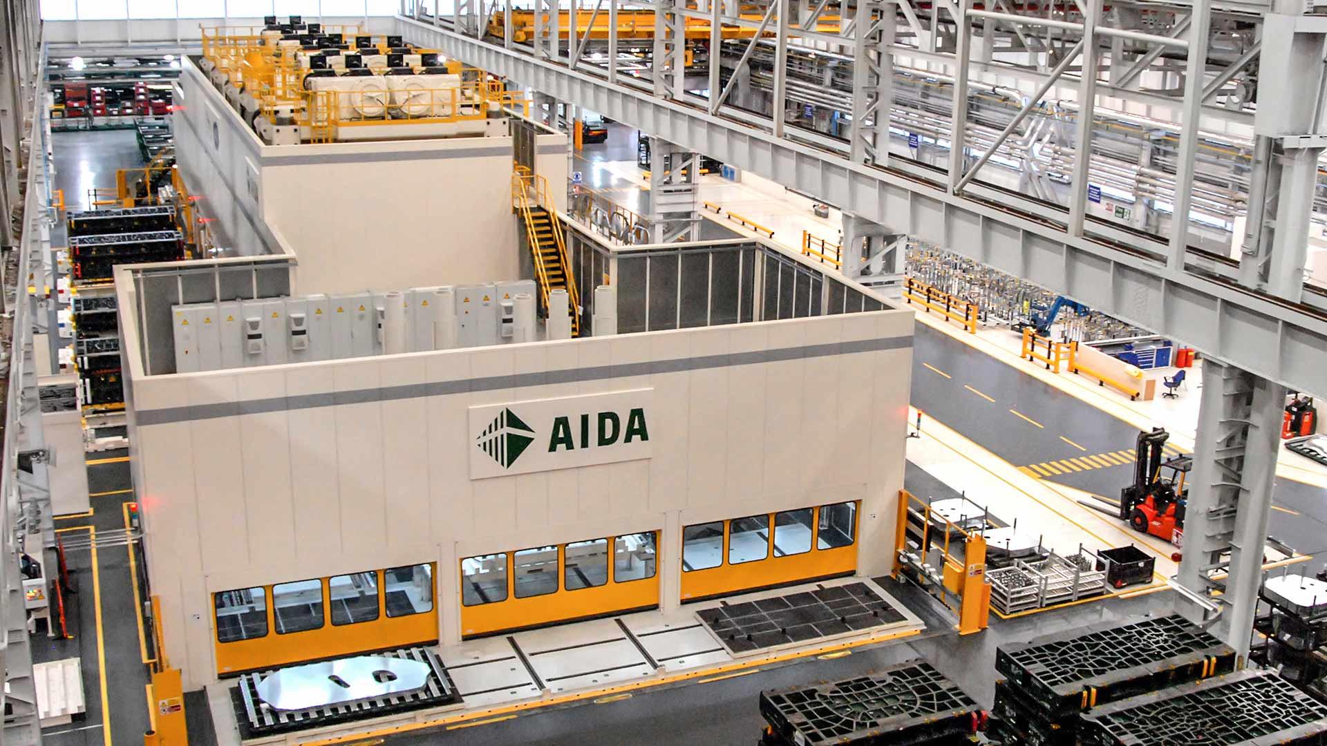 AIDA Servo Tandem Line, High Speed Servo Press Tandem Line