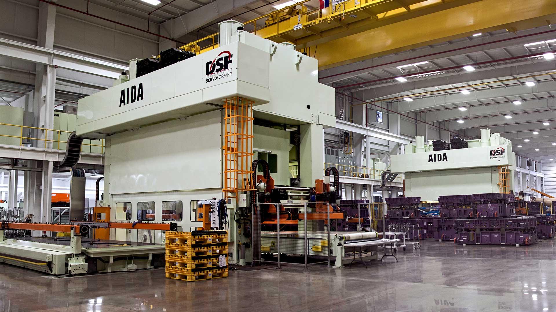 DSF-S4-12500, 1,250 Ton Servo Presses