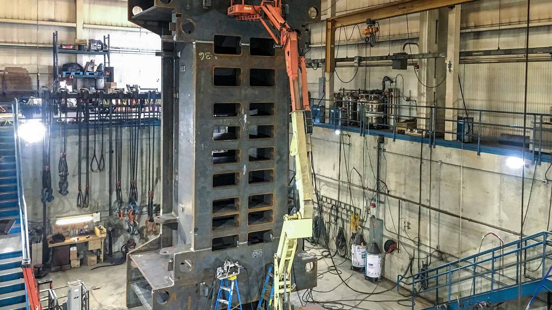 Massive Fabrications, Welding Pit for Large Fabrication & Welding Work
