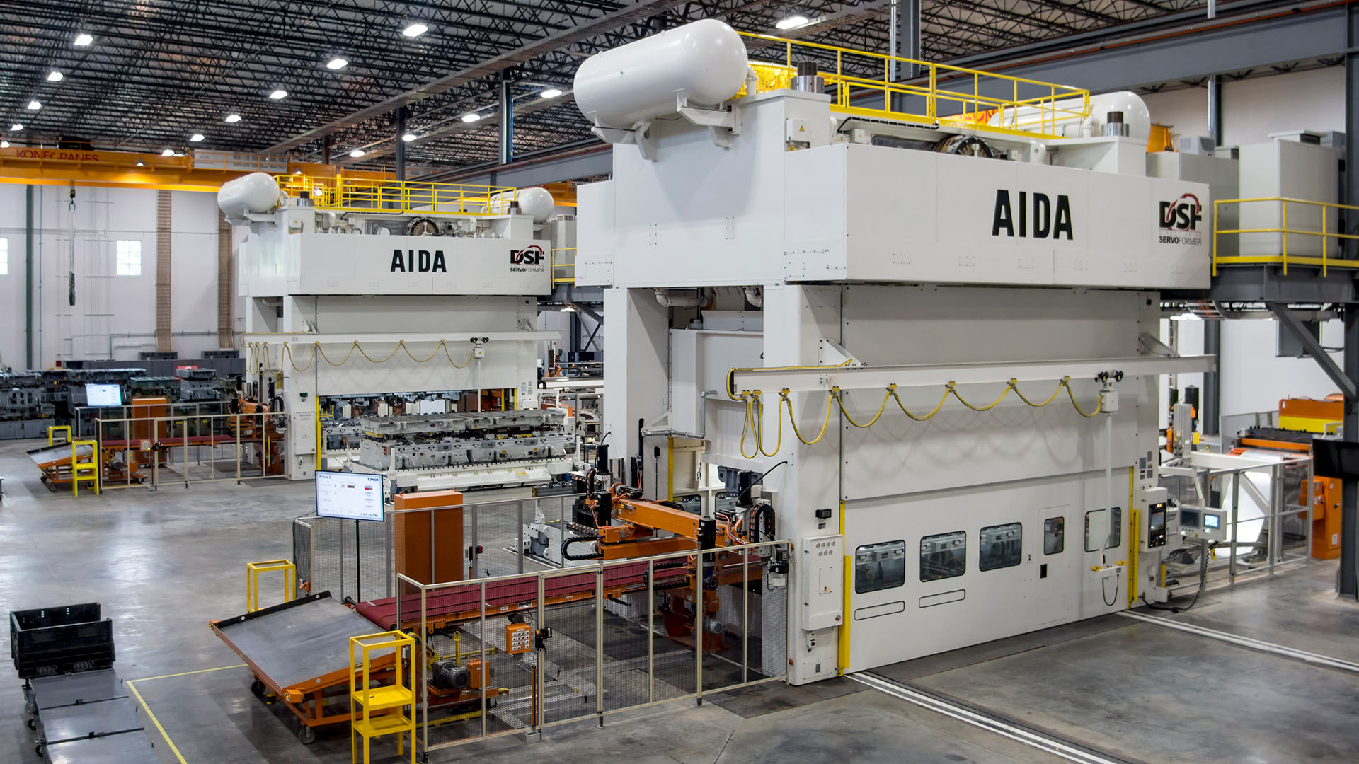 Advanced Servo Press Technology from AIDA, 2,000 Ton Servo Transfer Presses