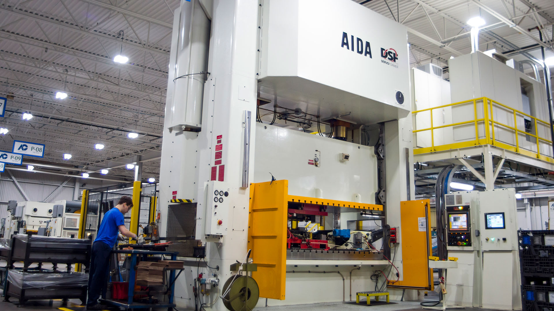 DSF-M2-6300, 630 Ton Servo Press with Rear Mounted Transfer System