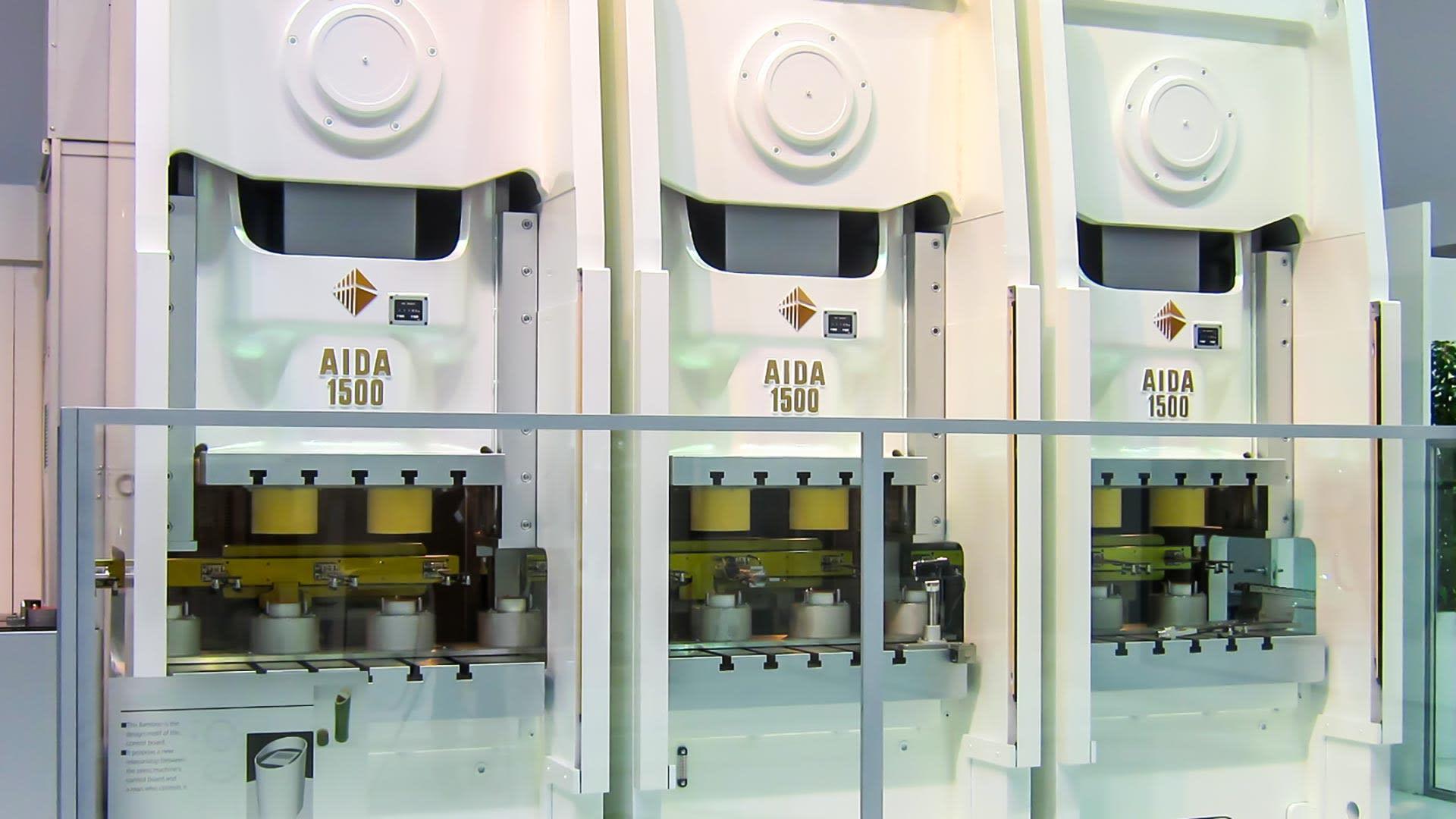 DSF-N1-1500 x 3, Unitized Frame Servo Press Tandem Line