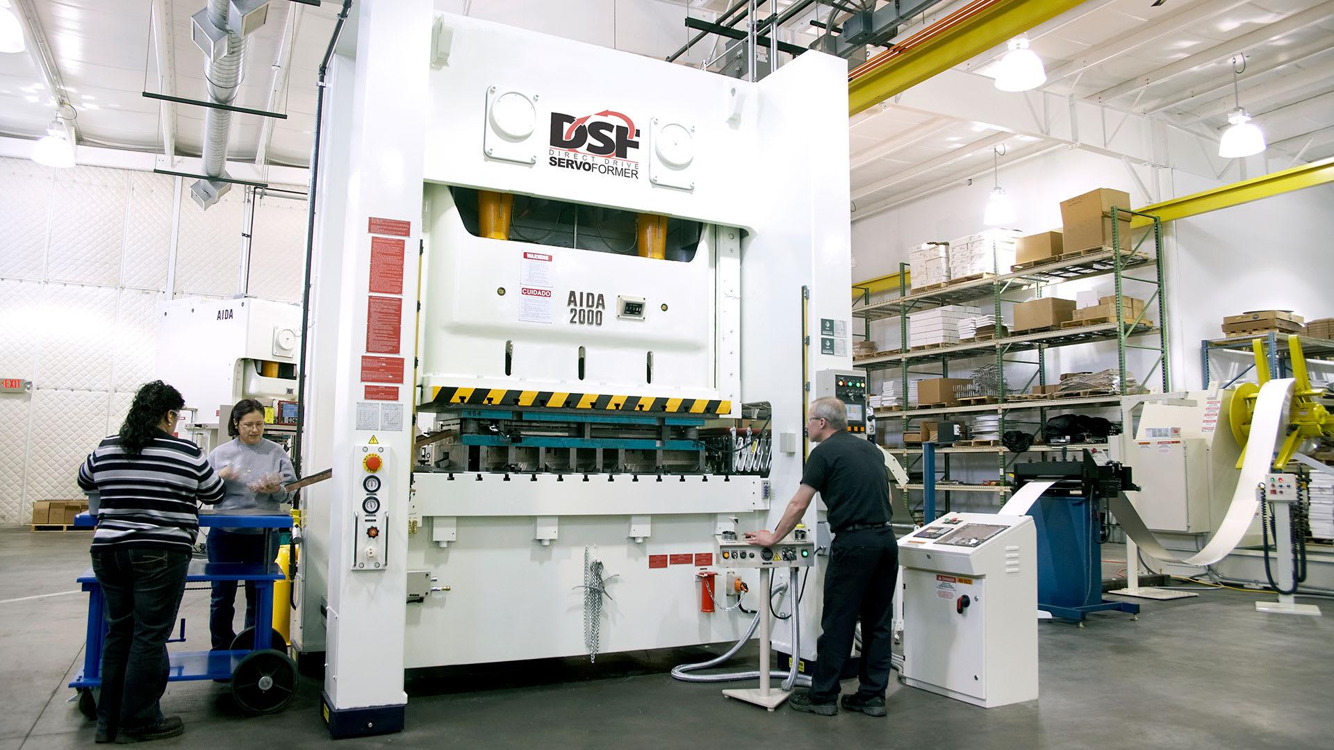 DSF-N2-2000, 200 Ton Servo Press