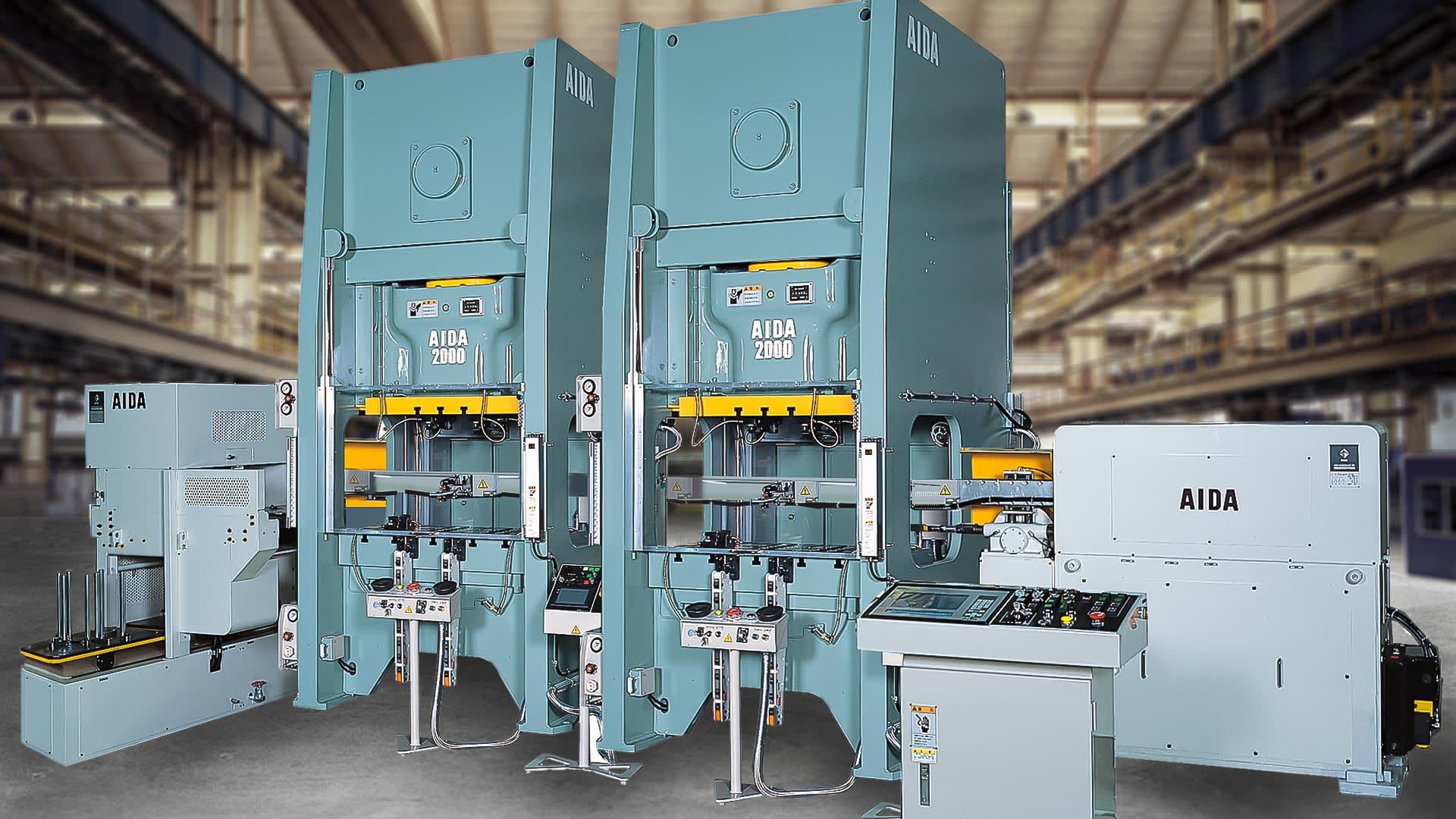 NS1-2000 Tandem Line, 200 Ton Mechanical Unitized Frame Presses