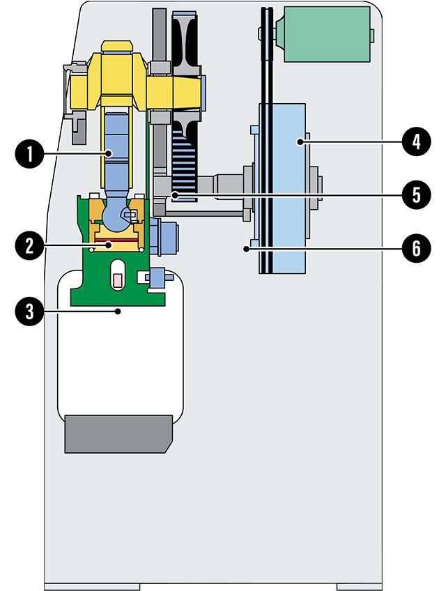 AIDA NS Unitized Frame Mechanical Press Cutaway Graphic