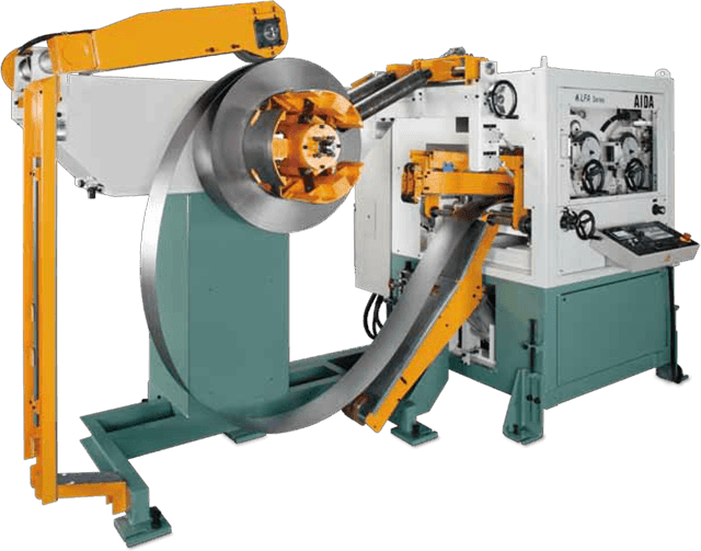 AIDA Stamping Press Automation | LFA Combined Uncoiler