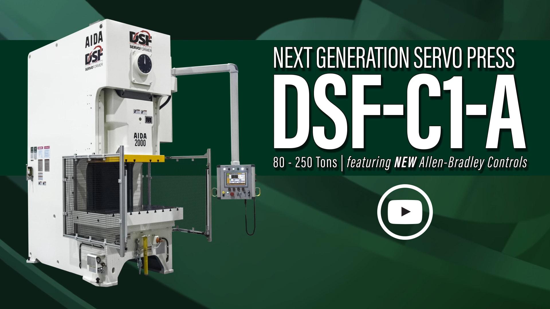 AIDA-America's Next Generation DSF-C1-A Series Gap Frame Servo Press