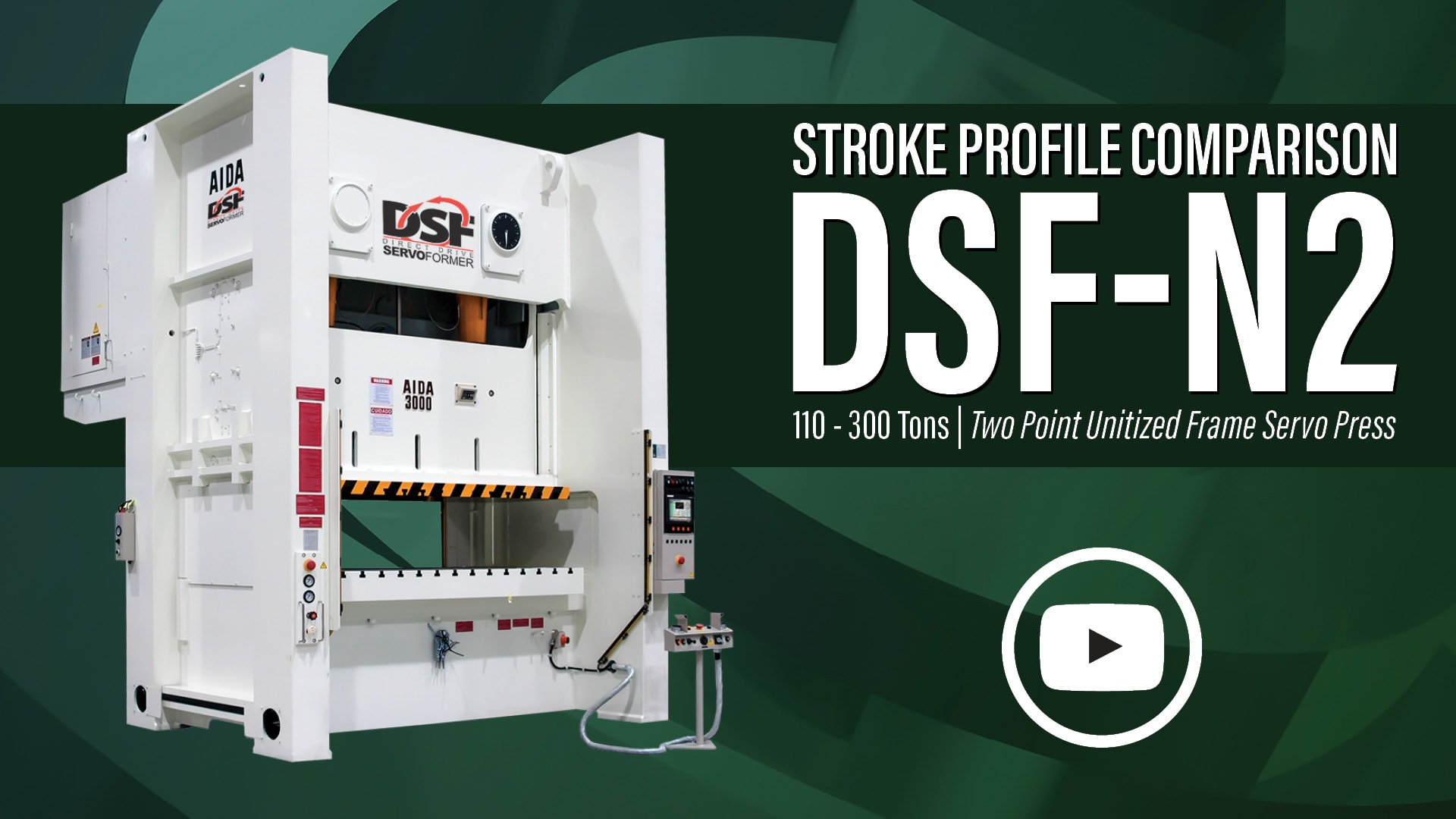 AIDA-America's DSF-N2 Two Point Unitized Frame Servo Press