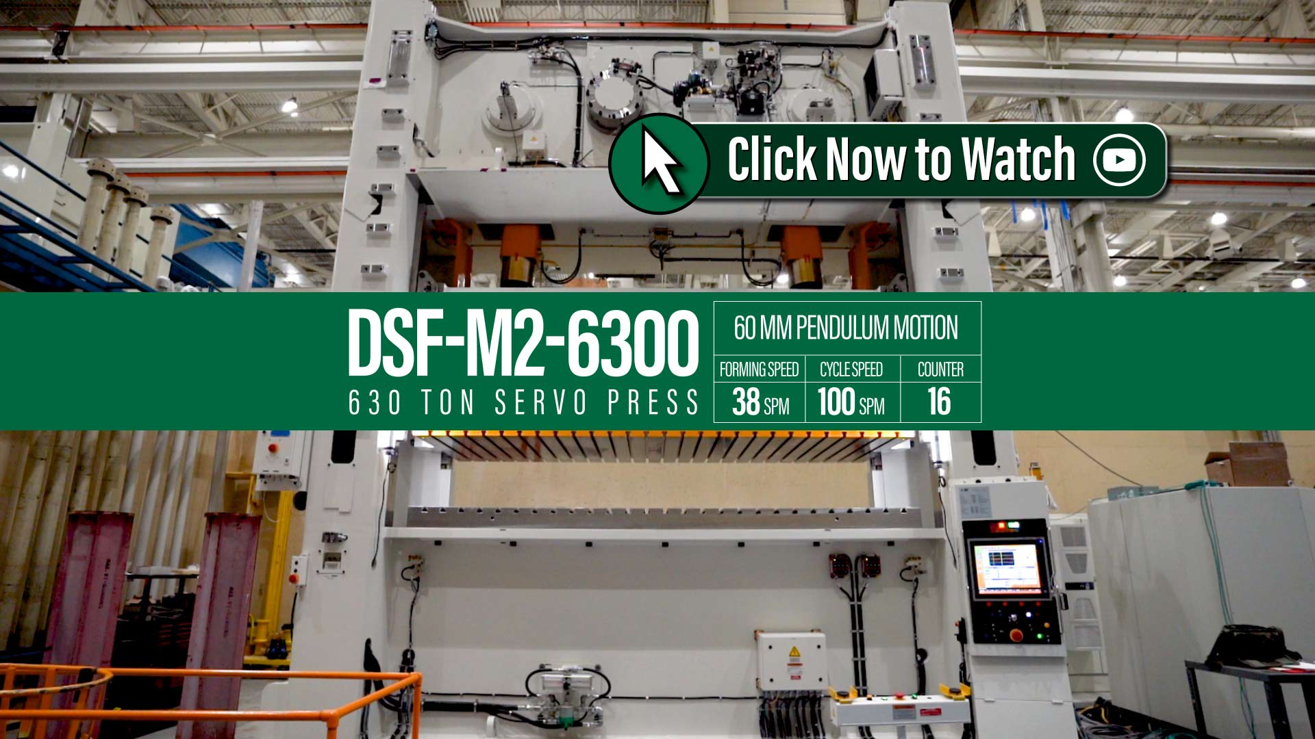 AIDA DSF-M2 Staightside Prog Die & Transfer Servo Press Motion Profile Video - Learn How to Solve Your Production Challenges.