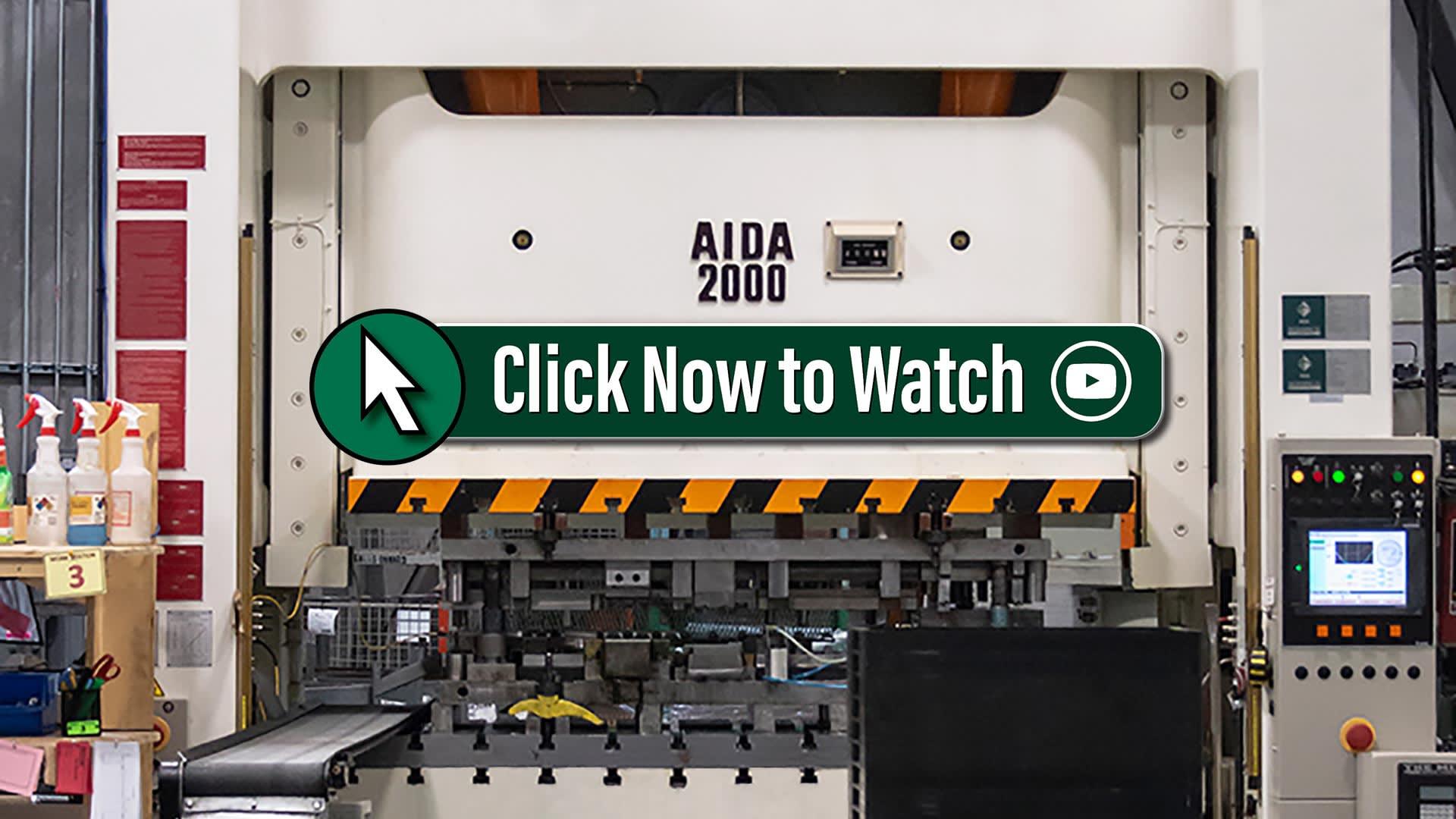 Pinnacle Tool Work's 200 Ton Unitized Frame AIDA Servo Press Video