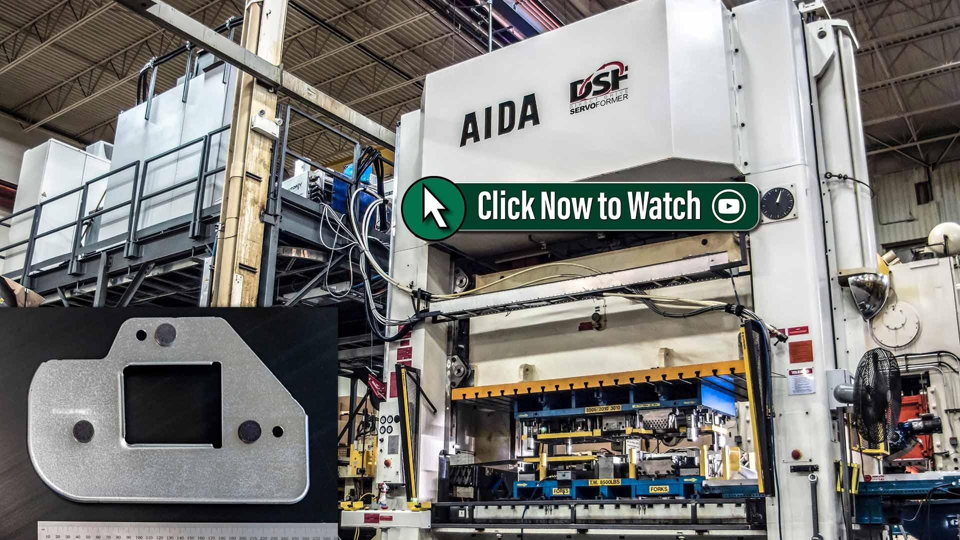Marwood International's 400 Ton Progressive Die AIDA Servo Press Video