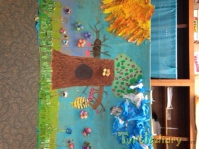 Nature Picture made from recycled materials  - Earth Day Contest April 2015 Submission