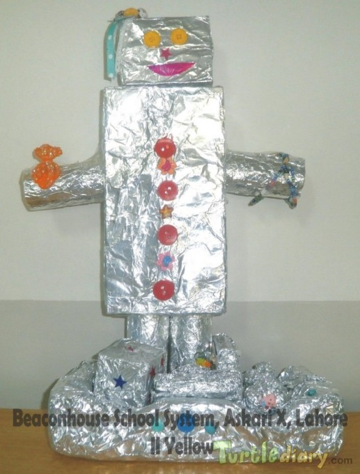 Robot (Re-use of boxes) - Earth Day Contest April 2015 Submission