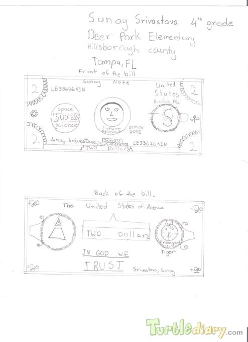 Sunay Two Dollers Bill-1 - Design Your Own Money Contest March 2015 Submission
