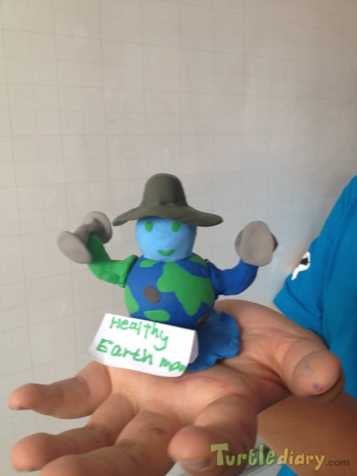 Healthy Earth man - Earth Day Contest April 2015 Submission