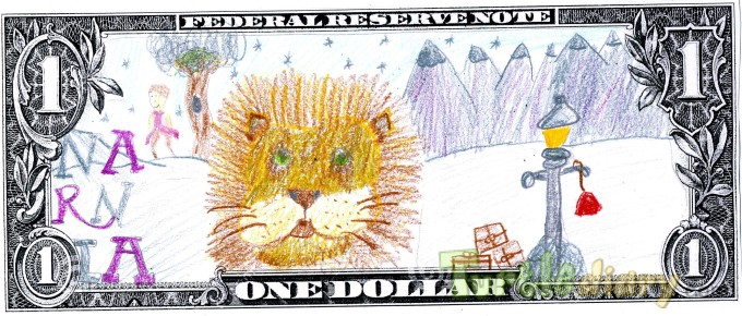 Narnia is my dollar design - Design Your Own Money Contest March 2015 Submission