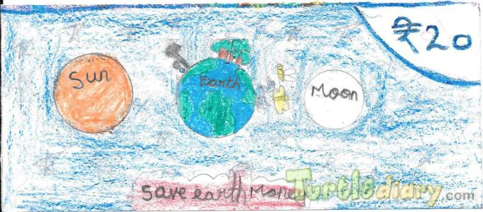 My name is Nitikasri. I am stding 3 rd std.My drawing first one is save nature,2nd is save earth(save water,tree,animals) Thank you for giving this opportunity. - Design Your Own Money Contest March 2015 Submission