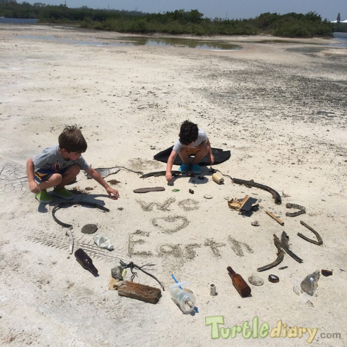 We Love Earth-Taylor and Colton Help Keep it Clean - Earth Day Contest April 2015 Submission