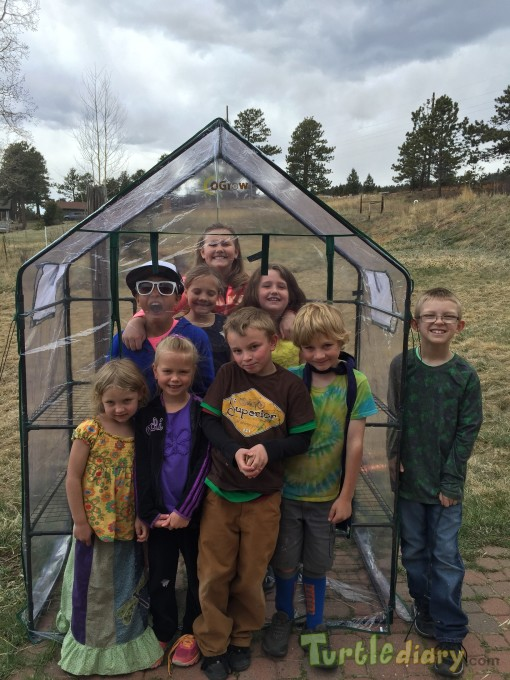 Kid built greenhouse for Earth Day - Earth Day Contest April 2015 Submission