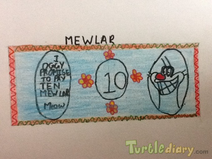 MY MEWLAR -THE CURRENCY OF CAT TOWN - Design Your Own Money Contest March 2015 Submission