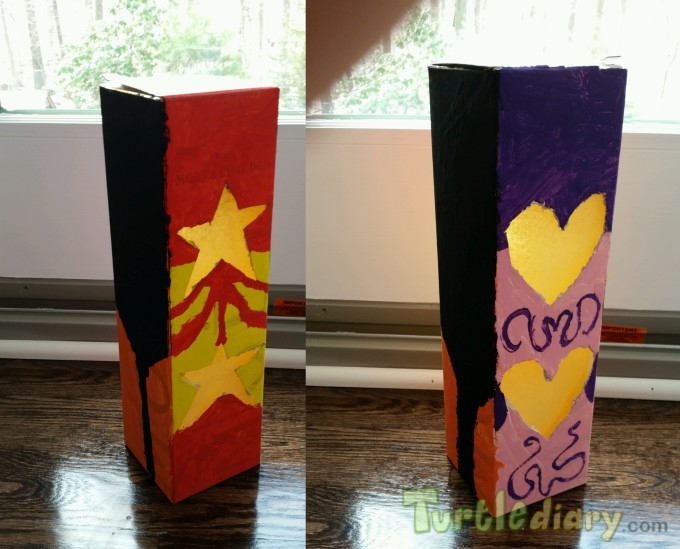 Energy-Saving Earth Day Celebration Lantern - Recycled Materials, Sunset Colors - Earth Day Contest April 2015 Submission