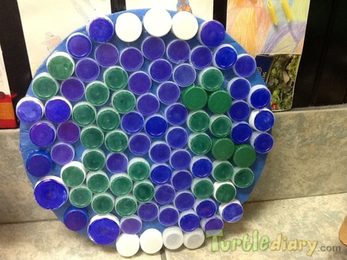 Bottle Cap Earth - Earth Day Contest April 2015 Submission