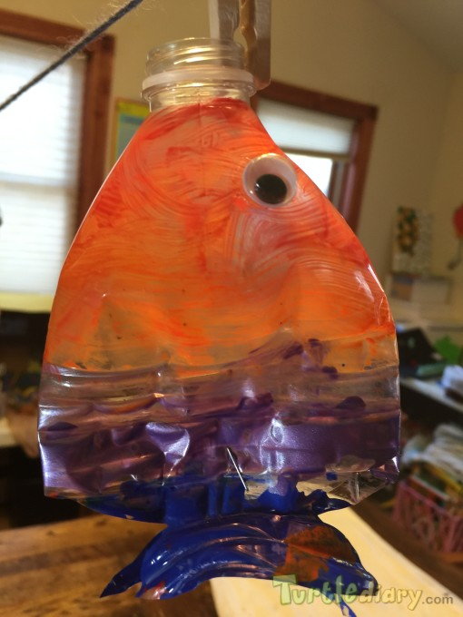 Recycled water bottle fish - Earth Day Contest April 2015 Submission