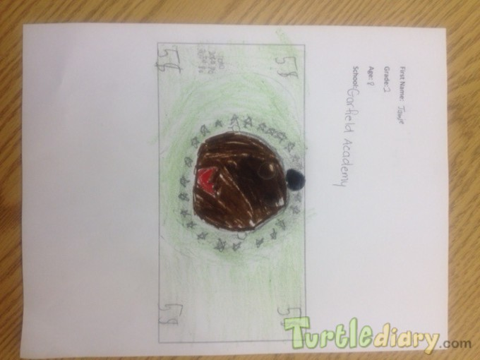 Jamie Turtlediary Dollar - Design Your Own Money Contest March 2015 Submission