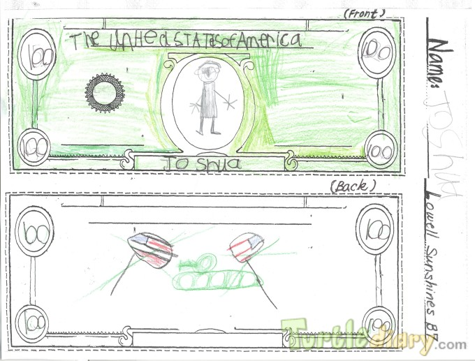 Army Tank Bill - Design Your Own Money Contest March 2015 Submission