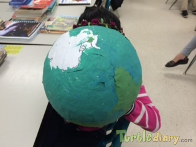 Teacher Trash Student Treasure- Recycled Magazine into Paper Mache - Earth Day Contest April 2015 Submission