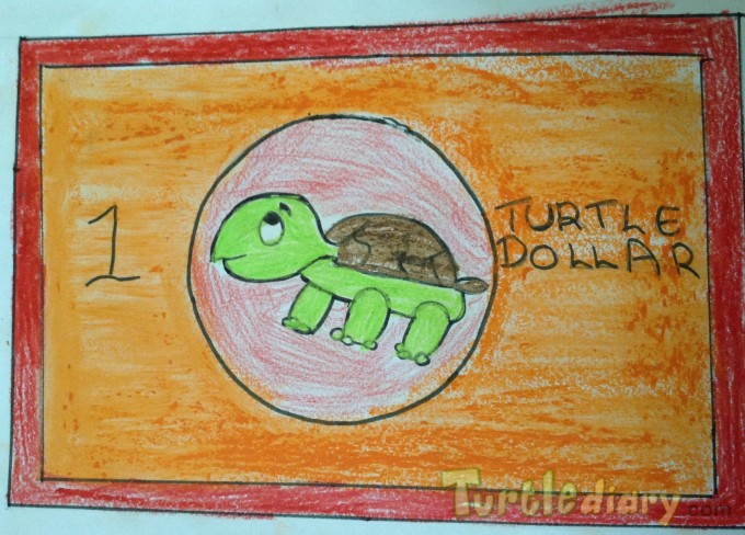 Turtle dollars by Anjali Vajjalla - Design Your Own Money Contest March 2015 Submission