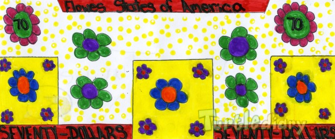 Flowers States of America - Design Your Own Money Contest March 2015 Submission