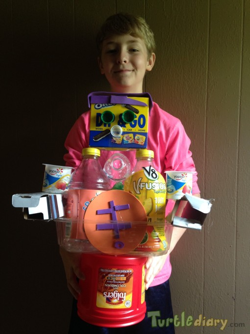 Recyled Robot - Earth Day Contest April 2015 Submission
