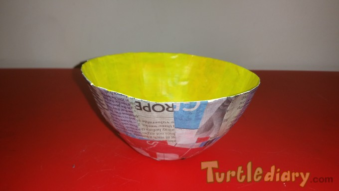 paper mache bowl - Earth Day Contest April 2015 Submission