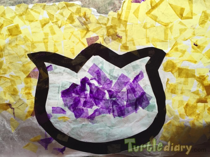 Tulip suncatcher reused tissue paper - Earth Day Contest April 2015 Submission