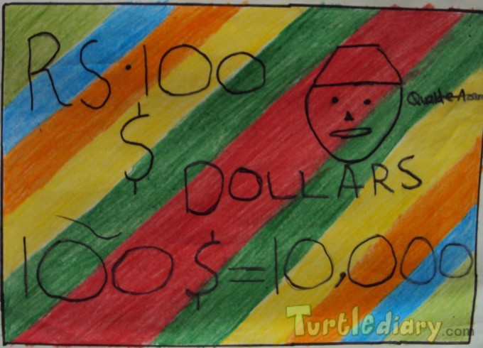 Colourful Dollar - Design Your Own Money Contest March 2015 Submission