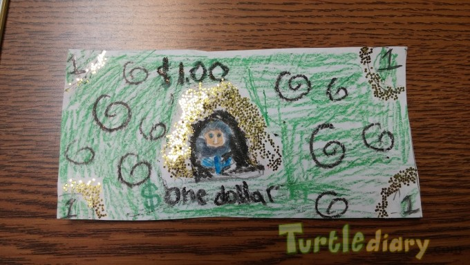 Glitter Dollar - Design Your Own Money Contest March 2015 Submission