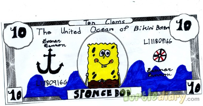 The United Ocean of Bikini Bottom - Design Your Own Money Contest March 2015 Submission