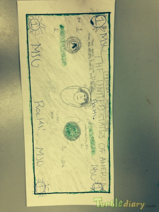 MSU Rocks Dollar Bill - Design Your Own Money Contest March 2015 Submission