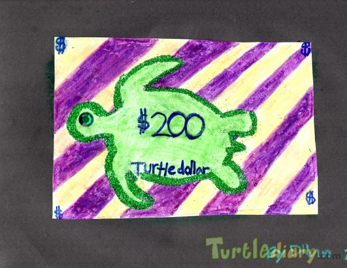 Turtle dollar - Design Your Own Money Contest March 2015 Submission