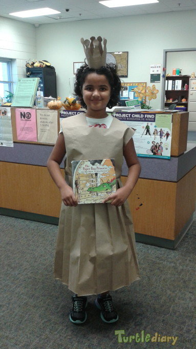 Paper bag princess dress - Earth Day Contest April 2015 Submission