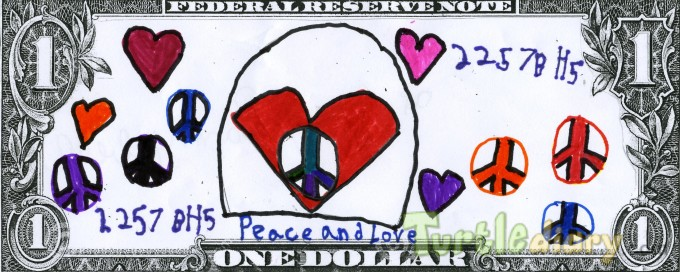 Peace and Love - Design Your Own Money Contest March 2015 Submission