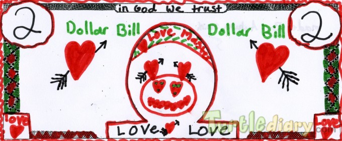 Love Dollar Bill - Design Your Own Money Contest March 2015 Submission