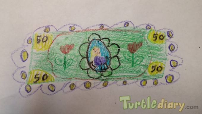 Flower Fifty Dollar - Design Your Own Money Contest March 2015 Submission