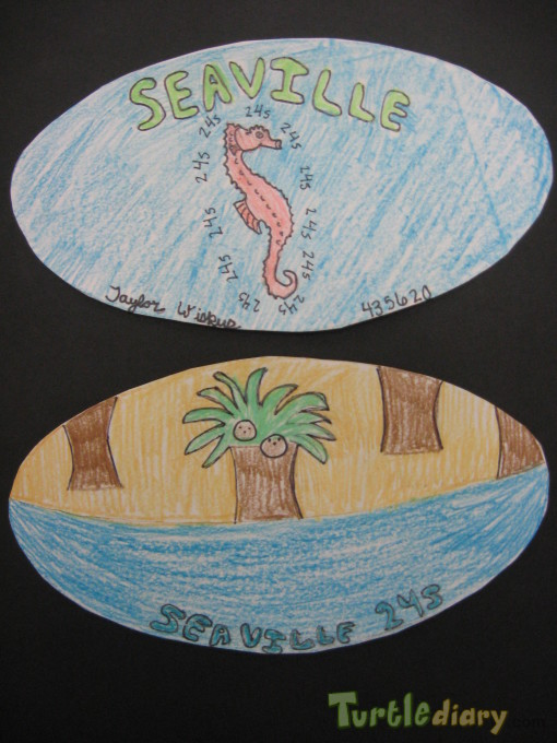 Money from the country of Seaville  FRONT and BACK - Design Your Own Money Contest March 2015 Submission