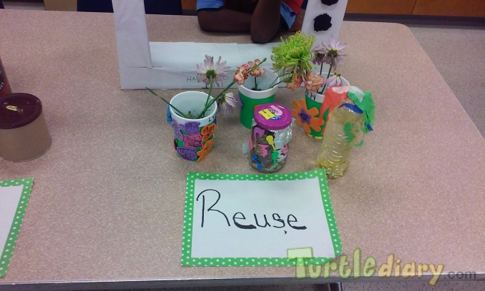 REUSE to make Potpouri Jars and Pots for Flowers - Earth Day Contest April 2015 Submission