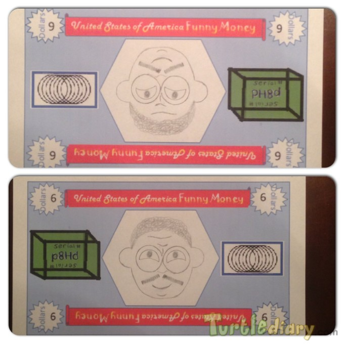 Upside Down Optical Illusion Funny Money - Design Your Own Money Contest March 2015 Submission